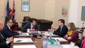 Reunión de Antonio Maíllo (IU) y Fabian Picardo
