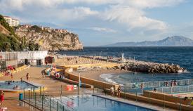 Zona de baño en Gibraltar. Sergio Rodríguez