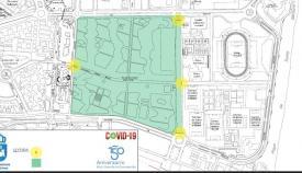 Un plano del Parque 'Princesa Sofía' de La Línea de la Concepción