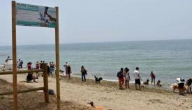 El Rinconcillo ya se prepara para disfrutar de la playa canina