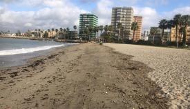 Una imagen actual de la playa de Poniente de La Línea. Foto: NG