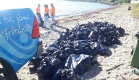 Imagen de los trabajos realizados en esta zona del litoral algecireño