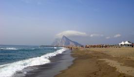 Una de las playas del litoral de levante, en La Línea. Foto: NG