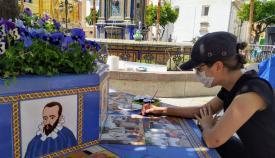 Retomados los trabajos de restauración cerámica en la Plaza Alta