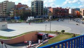 Una imagen reciente de la Plaza de la Constitución de La Línea