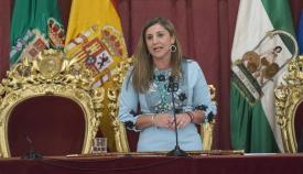 Irene García, durante su discurso de investidura
