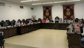 Un pleno celebrado durante este mandato en La Línea. Foto: NG