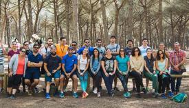 Algunos de los participantes en la jornada de convivencia en el Pinar del Rey