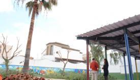 Visita de los concejales al colegio de la Estación de San Roque
