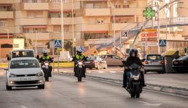 Agentes de la Policía Local de La Línea, en imagen de archivo