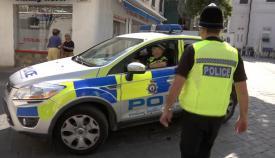 Policias de Gibraltar en una foto de archivo