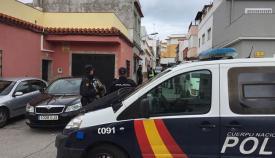 La Policía, en La Bajadilla