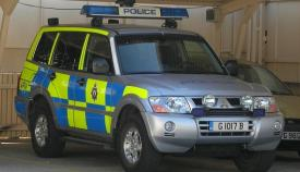 Un vehículo de la Policía de Gibraltar. Foto: NG