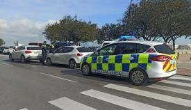 Agentes de la Policía Local de Algeciras, en un control. Foto: NG