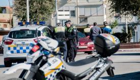 Un control de la Policía Local de La Línea