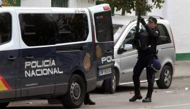 Policía nacional durante una intervención