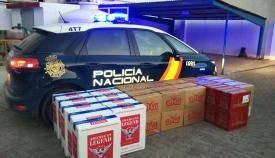 Tabaco intervenido por la Policía Nacional en La Línea