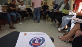 Imagen de archivo de una reunión de la Policía Social de San Roque