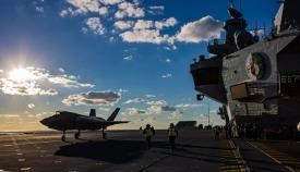 Portaaviones HMS Queen Elizabeth. Foto Royal Navy