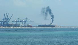 El buque portacontenedores denunciado