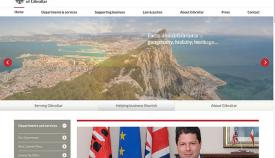 Portal de la web del gobierno de Gibraltar