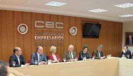Landaluce y García Pelayo, con responsables de la CEC de Cádiz