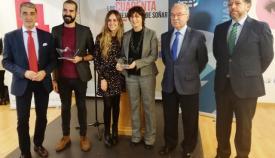 Los premiados con Javier Martínez y Manuel Morón, entre otros