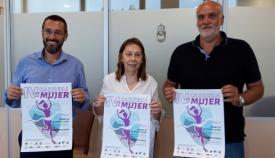 Juan Franco, Rosa Valcayo y Javier Vidal en la presentación de la Carrera
