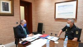 Landaluce recibe al nuevo Comisario Jefe de la Policía Nacional en Algeciras