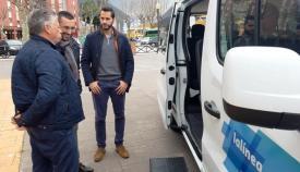 Juan Franco, Mario Fernández y un profesional del sector del taxi