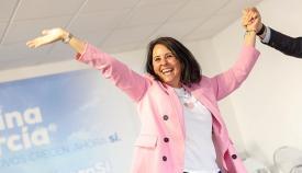 Marina García, durante su presentación