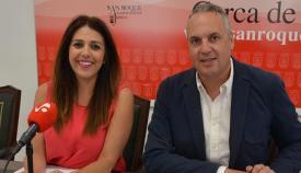 Juan Carlos Ruiz Boix y Belén Jiménez en una comparecencia ante los medios