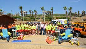 Imagen de archivo de la presentación de los medios para las playas de San Roque