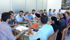 Una reunión del equipo de gobierno linense. Foto: lalínea.es