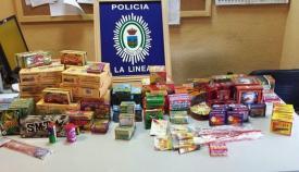 Material intervenido por la Policía Local