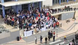 Protestas de los trabajadores de Sanidad en Gibraltar