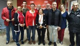 Miembros del PSOE de La Línea con Gemma Araujo a la cabeza. Foto: NG