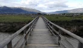 Imagen del puente del Sendero de Los Lances