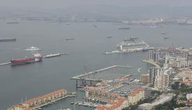 Panorámica del puerto de Gibraltar. Foto NG