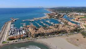 Imagen aérea de parte de la urbanización de Sotogrande, en San Roque.