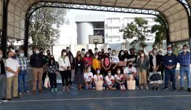Algunos de los alumnos del IES Antonio Machado. Foto: NG