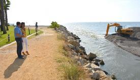 El río Guadiaro volvía a tener su desembocadura cerrada