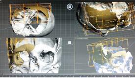Reconstrucción del rostro de Calpeia según un craneo neolítico. Foto InfoGibraltar