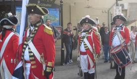 Reciente representación histórica en las calles de Gibraltar. Foto APG