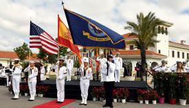 Un momento del acto celebrado esta mañana en la base de Rota. Foto US Navy