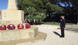 Uno de los actos celebrados esta mañana en Gibraltar. Foto RGP