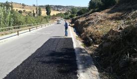 La Diputación de Cádiz ha procedido al arreglo de la carretera en San Roque