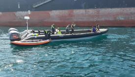 Rescate de los tres individuos. Foto RGP