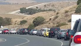 Retenciones en la carretera Algeciras-Tarifa