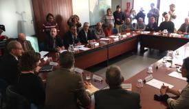 Imagen de la reunión celebrada ayer en la sede de la Administración General del Estado